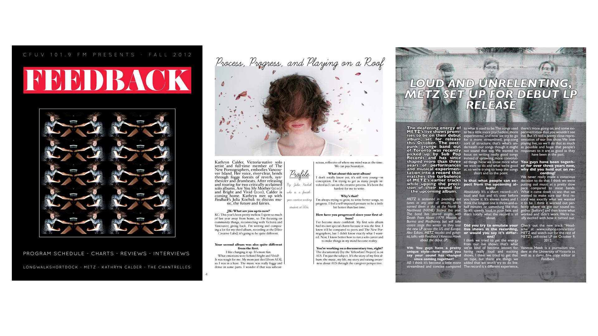 Feedback Magazine Header